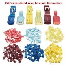 (150) T-Taps/Male Insulated Wire Terminal Connectors Combo Set 14-16 10-12 18-22