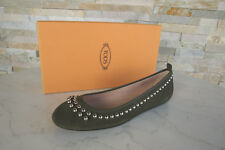 Tods Tod ´ S 40 Ballerines Chaussons Chaussures Basses Vert Neuf