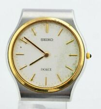 H042 Vintage Seiko Dolce Quartz Watch For Parts Needs Repair 8N40-6090 JDM 40.1