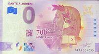 BILLET 0  EURO DANTE ALIGHIERI ITALIE ANNIVERSARY   ITALIE 2021 NUMERO  DIVERS