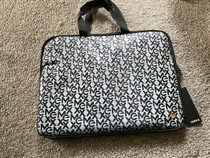 Mexx Grey And Black Logo Laptop Bag New With Tags Fleece Padded Lining