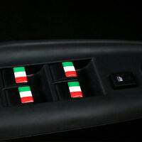 x4 Italy Flag 3D Dome Stickers Italian Alloy Logo For Alfa Romeo Fiat 500 Abarth