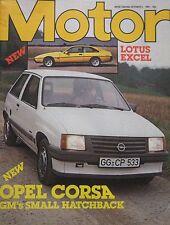 Motor magazine 2/10/1982 featuring Mercedes road test, Lotus Eclat Excel, Bitter