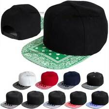 82412411e63bb Baseball Cap Bandana Visor Hip Hop Hat Snapback Blank Solid Plain Flat Bill  Men