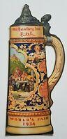 1934 Chicago Worlds Fair Blatz Beer Advertising Paper Stein Breweriana Eitel