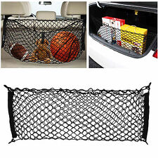 Car Rear Trunk Luggage Storage Organizer Elastic Nylon Mesh Cargo Net 4 Hooks