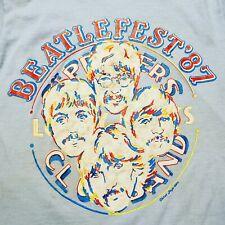 Vtg 80s the BEATLES Tour Tshirt 1987 Fan Club BEATLEFEST Tee Carol Lapidos RARE