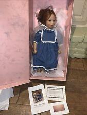 """Annette Himstedt 5202 American Heartland~Toni~ 22"""" Puppen Kinder Girl Doll Coa"""