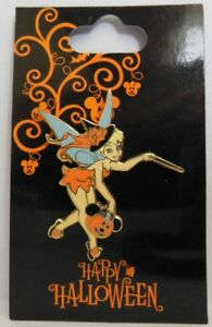 Disney Tinker Bell Trick or Treating with her Mickey Jack o' Lantern Pail Pin