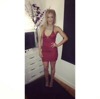 size 10 maroon MissGuided Lace Dress