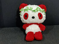 Sanrio Smiles Hello Kitty Red Panda Tone Fluffy Plush Doll Japan 2008 Toy 7""