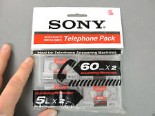 SONY MICROCASSETTE MC60 MC5 TELEPHONE PHONE PACK SET LOT 4 NEW SEALED VINTAGE