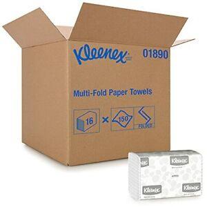 Kleenex Multifold Paper Towels 01890 White 16 Packs / Case 150 Tri Fold Paper...