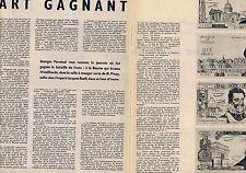 COUPURE DE PRESSE CLIPPING 1959 Le franc lourd part gagnant  (3 pages)