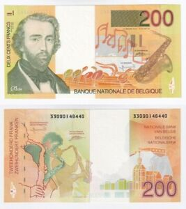BELGIUM 200 Francs Banknote (1995) P.148a - UNC.