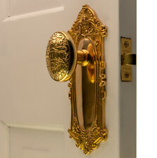 The Milford Passage Set in Polished Brass with New York Door Knobs