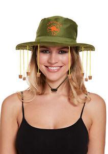 FANCY DRESS AUSSIE AUSTRALIAN HAT WITH CORKS CORK HAT CROCODILE DUNDEE OZZIE