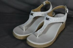 Michael Kors White Rubber Outsole Woman Wedges Size 8.5M