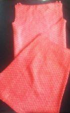 1950-60's knit lined skirt/sleeveless top - rusty orange/metallic gold!