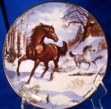 Franklin Mint Royal Doulton Horse Plate Winter Morning Gallop Donald L. Kueker