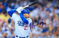 Matt Kemp Signed Autographed 12X18 Photo Los Angeles Dodgers at Bat w/COA