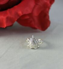 Sterling Silver 3.04g Adorable Turtle   Size 6  Ring   FERAL CAT RESCUE