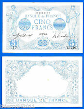 France 5 Francs 1916 17 June Serie Y Blue Type WWI Frcs Frcs Free Ship World
