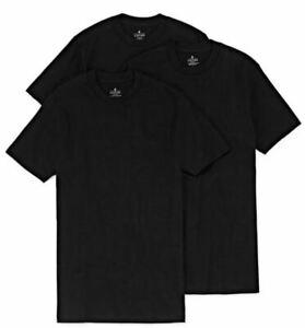 Stafford 3-Pack Men's 100% Cotton Heavy Weight Crew-Neck T-Shirt Black