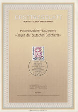 TIMBRE FDC ALLEMAGNE  BERLIN OBL ERSTTAGSBLATT MARIA SIBYLLA MERIAN 1987