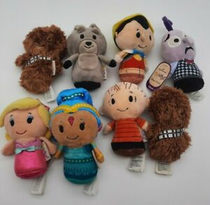 Hallmark Itty Bittys Mixed Lot of 8  Chewbaccas Barbie Linus Disney +
