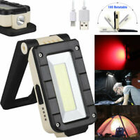 USB Rechargeable Magnetic COB LED Work Light Lamp Folding Inspection Light Torch