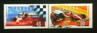 Canada #1647-1648a MNH, Gilles Villeneuve Pair of Stamps 1997