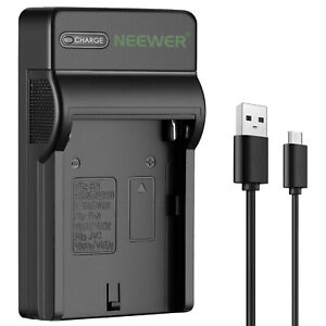 Neewer Slim Fast NP-F550 Battery Charger for Sony NP F970 F770 F330 CCD-SC55