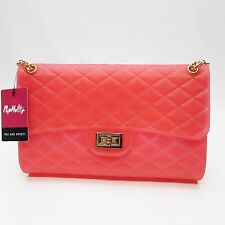 PopMolly Candy Bag Club Festival Purse with Chain Quilted Rubber UV -PICK COLOR-