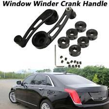 Black Aluminum Manual Billet Window Crank Handle Winder Knob Universal Car Side