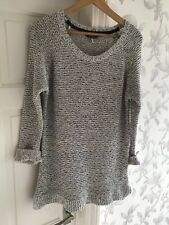 Joules Womens White & Blue Flecked Sweater Jumper Size 14