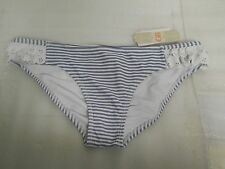 GB Gianni Bini New Womens Striped Ruffle Hipster L Bathing Suit Bikini Bottom