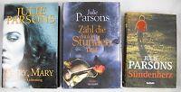 🔪 4x Julie Parsons -  Paket Krimi Thriller Bücher Konvolut - gebundene Ausgaben
