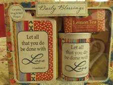 """NIB """"Let All That You Do Be Done With Love."""" 1 Corinthians 13 Mug & Plaque Set"""