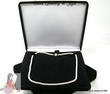 New Black Velvet Jewelry Store Style XL Necklace Pearl Gift Box