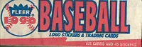 1990 FLEER BASEBALL SET LOGO STICKERS AND TRADING CARDS