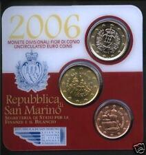 2006 minikit SAN MARINO 3 pièces 5 ct + 50 cts + 1 euro