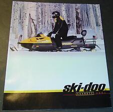 2001 Ski-Doo Skandic Snowmobile Sales Brochure 12 Pages Nice+