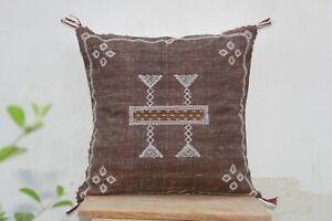 Cactus Silk Inspired Handmade 20 X 20 Linen Pillow Cover Moroccan Cushion Cover