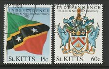 St Kitts 1988 Fifth Anniversary of Independence set SG 263-264 Fine used.