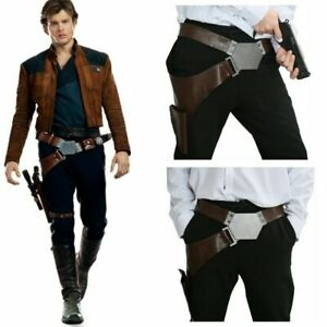 Han Solo Belt with Holster PU Cosplay Costume PU Props for Adult
