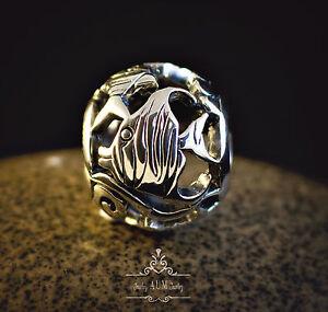 Genuine 925 Sterling silver charm openwork angel fish ocean sea fits bracelet SS