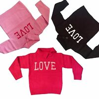 New Girls Knitted Long Sleeve Top T-shirt Jumper Sweater Shrug 3-12 years #204