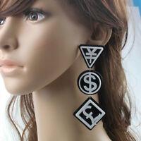 Fashion Women Nightclub DJ Ear Acrylic Drop Hip-hop earrings Jewelry Gift