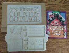 1995 Longaberger Pottery Gingerbread Country Cottage Vtg Christmas Item 32476